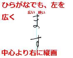 【美しい文字の書き方の知識】横画を貫く縦画がある漢字は、左を広く