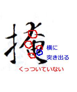 王義之の特徴3「接筆に注目」