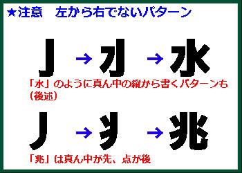 左から右に書かないパターンに注意