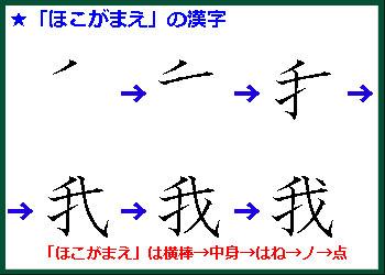 ほこがまえの漢字の書き順